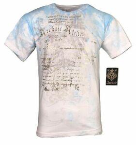 ARCHAIC by AFFLICTION  Men's T-Shirt CASCO Eagle White Tattoo Biker S-4XL $40 NW