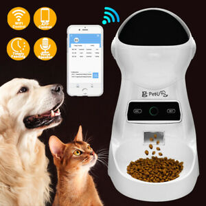Automatic Cat Feeder Auto Dog Food Dispenser Voice Recorder & Portion Control