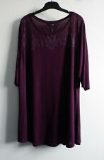 Yours Size 26 – 28 Tunic Top with ¾ Length Sleeves Plum