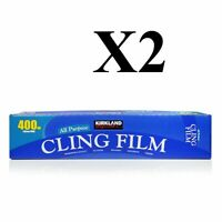 Catering Cling Film 345mm Wide x 400 Metres Length Food Kirkland X2