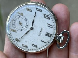 Rare 1928 Longines 14K Solid White Gold 17.89M  19 Jewels 5 ADJ  41.5 Gram RUNS