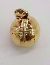 MASONIC FOLDING CROSS BALL 14K GOLD CHARM