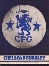 Football Programme - Chelsea v Burnley - FA Cup - 28/1/78