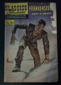Classics Illustrated 26 - Frankenstein by Mary Shelley - Original 1945 Comic