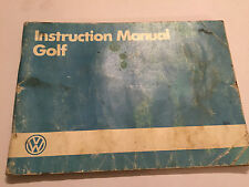 VW VOLKSWAGEN GOLF OWNERS handbook DRIVERS MANUAL petrol diesel 1985