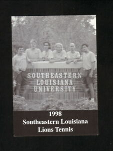 Southeastern Louisiana Lions--1998 Tennis Pocket Schedule