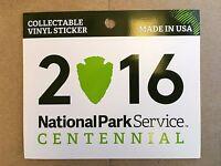 Official National Park Service Centennial Vinyl Sticker Decal 2016 NPS Parks