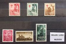 SELLOS DE ESPAÑA AÑO 1953** NUEVOS, SIN 1124/1125, SIN SEÑAL DE FIJASELLOS