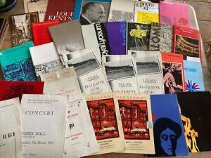 Job Lot Vintage Theatre, Opera, Ballet, Concert Programmes X 70 Collection