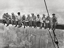THE CONSTRUCTION WORKERS ON ROCKEFELLER CENTER BEAM ART PRINT 1932 NEW YORK CITY