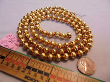 "Christmas Garland Mercury Glass Antique Gold 35"" Long 5/16"" Beads #Pl71 Vintage"