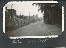 July 1945 WWII GI's Germany Photo #9 Street Scene in Jülich ?
