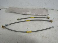 64-67 GM A-body Front Drum Brake STAINLESS Flex Hoses Line SH555 W30 GS HO Pair