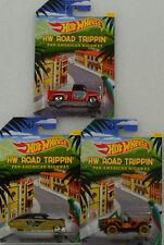 Road trippin Pan American  Jeep Chevy Fleetline 56 Custom Set 1:64 Hot Wheels