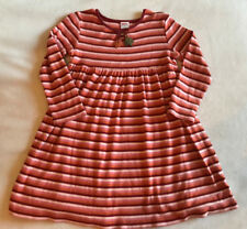 Gymboree Girls 5 Harvest Leaves Orange Striped L/S Knit Dress Leaf Fall Autumn