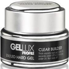 GELLUX - UV/LED CLEAR Builder Hard Gel - 15ml - SALON SYSTEMS - self-levelling