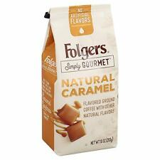 New listing Folgers Simply Gourmet Flavored Ground Coffee, Caramel, 10 Oz new
