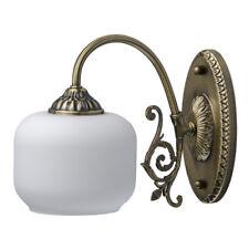 Applique murale classique métal bronze abat-jour verre ampoules 1*60W E27