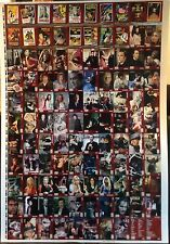 Unstoppable BRITISH HORROR COLLECTION UNCUT CARD SHEET of 100 Card Set VERY RARE
