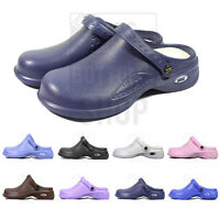 Medical Nursing Womens Ultralite Clogs w/ Heel Strap Non-Slip Light Shoes - 9012