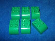 Lego Duplo 6 X Dachsteine Dachstein Stein abgerundet 2 x 3er Noppen Gelb