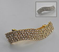 Sparkly clear crystal/diamante barrette hair clip/slide. Wedding/Bridal//party