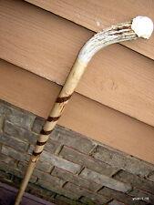 HandMade Deer Antler Burr Spiral Bark DOGWOOD SHILLELAGH/walking-stick;Cane