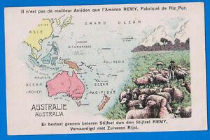 Australia, Indonesia, Malaysia, China, Japan, Hawaii, New Zealand, old map postc