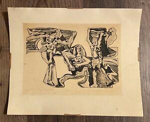 Salvatore Grippi, New York City Artist, Ink on Paper, 1954