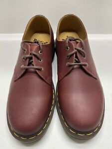Dr.Martens 1461 Mens Oxford Shoes Cherry Red Smooth Leather Size 9