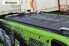 To Fit 2002 - 2014 Vauxhall / Opel Vivaro SWB Steel Roof Rack Rails Matte Black