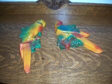 Miller Studio 1967 Pair of Chalk Parrot's!