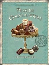 METAL WALL HANGING SIGN MASTER CHOCOLATIERS CHOCOLATE LOVERS GIFT