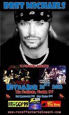 Bret Michaels/Hit Parade/Mirror/Mirror 2012 Vienna,Wv Concert Tour Poster-Poison