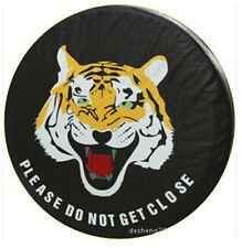 """16"""" For  Generic SUV Car Wheel Spare Tire Cover Tiger Please Do Not Get Close"""