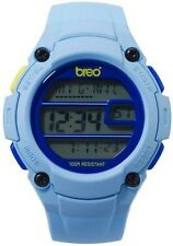 Breo Zone Unisex Girls/Boys Digital Watch Sky Blue Plastic Strap B-TI-ZNE4 New