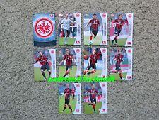 TOPPS BUNDESLIGA CHROME 2013 2014 - ALLE 9 Basiskarten FRANKFURT 13 14 + Wappen