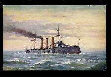 Royal Navy H.M.S.. Essex Armoured cruiser PPC Tuck Oilette #9109