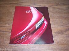 "MINT ORIGINAL 1995 FORD ESCORT XX / GT SALES BROCHURE 11"" X 9"" (BOX 342)"