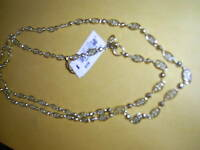 "NEW WITH TAG NWT 25395  Cookie Lee Necklace  42"" Long Gold Tone"