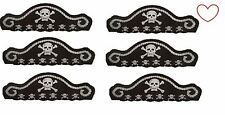 fancy dress pirate party hat accessory foam childrens skull crossbones 6pk