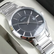 Orologio da Uomo Bulova Classico con Data Nero Men's Watch Date NUOVO List.€.279