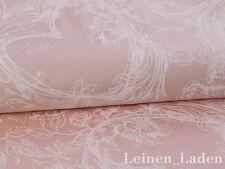0,5 M Hearts Roses Pattern, Noble, Wedding, Cotton Satin, White on Powder Pink