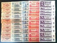 Russia USSR 1961 10 sets 1, 3, 5, 10, 25 rubles, 50 banknotes. Best price!