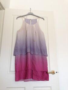 Acne Studios Gradient tiered racerback Satya Degrade Dress size 40/ 12/ Large