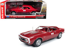 """1967 Chevrolet Camaro SS """"Hot Rod"""" Test Car Red with White Nose Stripe """"Hot Rod"""""""