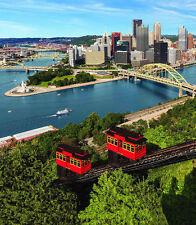 "City of Pittsburgh Incline Skyline Fleece Throw Blanket 50"" x 60"""