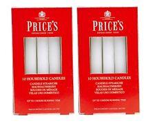 2 x Velas Velas del hogar 10 paquete de precios Blanco Decorativo Navidad de 20