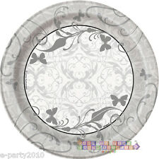 VICTORIAN WEDDING SMALL PAPER PLATES (8) ~ Bridal Party Supplies Cake Dessert