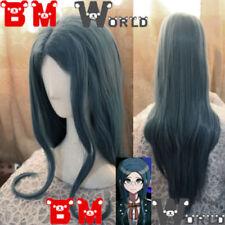 DanganRonpa V3 Shirogane Tsumugi Cosplay Wig 100cm Mixed Blue Wave Party Hair
